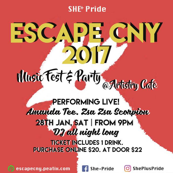 Escape Chinese New Year with She+Pride