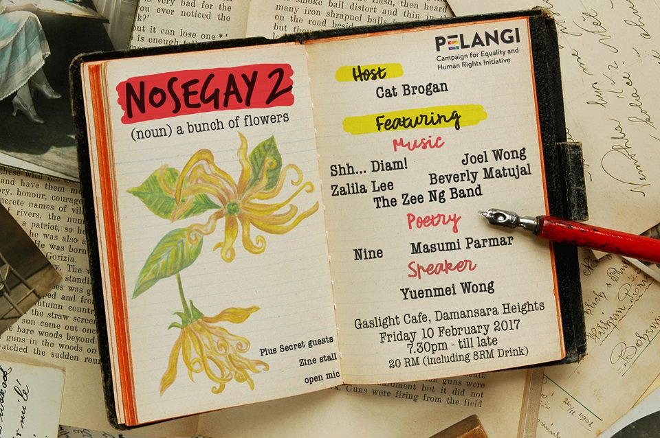 Queer Poetry Music and Drag Night in KL with Nosegay
