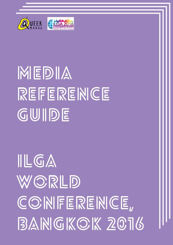QueerMango Media Reference for ILGA World, Bangkok